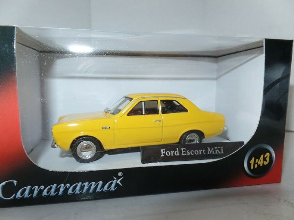 Cararama CR048 1/43 O Scale Ford Escort MkI Daytona Yellow